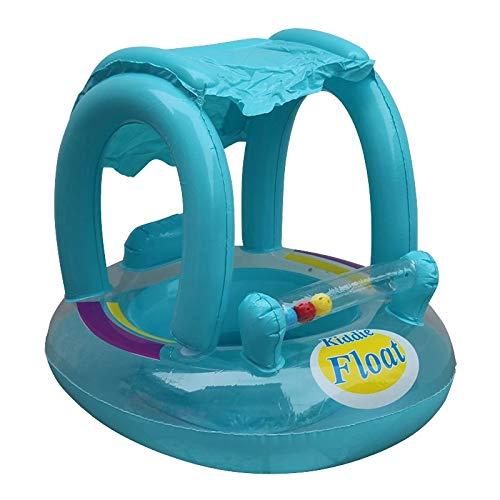 ZXY Anillo Inflable de Natación con Flotador para Piscina para Bebés,Asiento con Toldo Toldo para Anilla de Baño Infantil Nuevo 2021,B