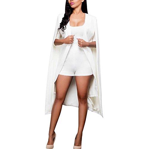 LAEMILIA Damen Jacke Poncho Cape Elegant Lang Geöffnet Knielang Damenmmode Fashion Vintage Umhang Blazer Mantel