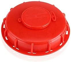 1 Tapones de depósito IBC, 165 mm, tapa de protección para depósito de agua de plástico, tapa de rosca gruesa, rojo.