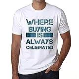 Hombre Camiseta Vintage T-Shirt Gráfico Where We Always Buying Blanco