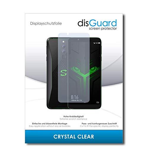 disGuard® Bildschirmschutzfolie [Crystal Clear] kompatibel mit Xiaomi Black Shark Helo [2 Stück] Kristallklar, Transparent, Unsichtbar, Extrem Kratzfest, Anti-Fingerabdruck - Schutzfolie