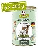 GranataPet Liebling's - Mangime umido per cani, senza cereali e senza zuccheri, 6 x 400 g