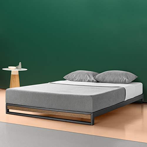 Zinus Cama de plataforma sin cabecero Suzanne de 15,2cm, Base para colchón, Sin necesidad de usar un somier, Sólido soporte de listones de madera, Fácil montaje, 135 x 190 cm
