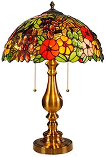 HAO KEAI Lámparas de Mesa Tiffany Lámparas de Mesa, Modelo de UVA Lámpara de Noche Vintage Lámpara de Noche Lámpara de Cama Lámpara de Oficina Base en Art Deco Iron Art (Color : B Style)