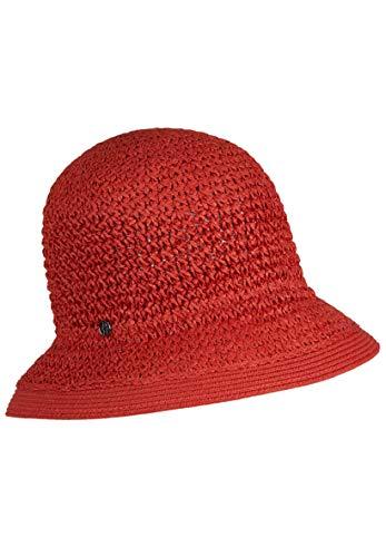 LOEVENICH Damen Häkelglocke, sommerlicher Hut, Farbe: red