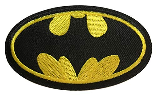 Yoyoking Super Hero Black/Yellow Logo Embroidered Iron on or Sew on Patch ( Size: 9.7cm5.7cm )