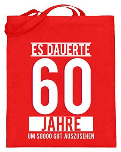 Tiene 60 años de duración, para ver bien a Sooo. 60 cumpleaños, idea de regalo, sesenta bolsas de yute (con asas largas), color, talla 38cm-42cm