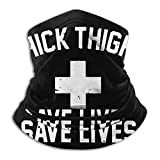 Annays Neck Gaiter Warmer Thighs Save Lives Headwear Head Wrap Retro Neck Polaina Festivales Aire Libre Colorido Deportes Cuello Polaina Calentador Interior Multifuncional Acogedor Ciclis