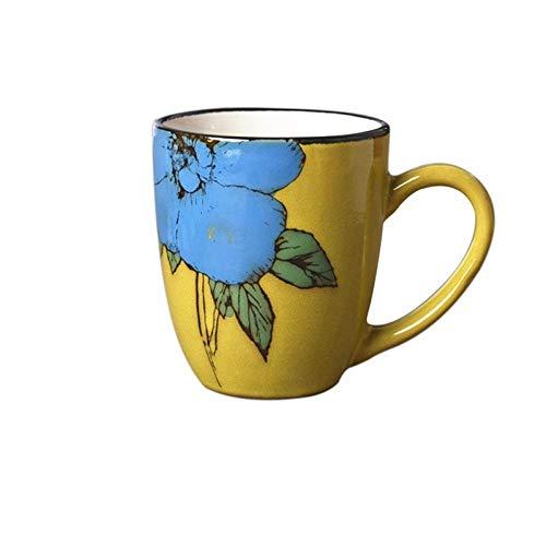 IRCATH Waterbeker, origineel en leuk cadeau, voor studenten, oven, geglazuurd, blauwe sterrenbeker, retro, kopje, keramiek, creatieve mok