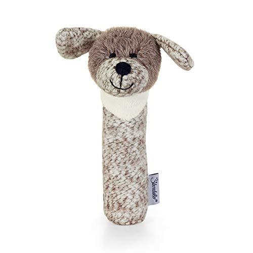 Sterntaler 3311961 Greif-Quietsche Hund Hanno, Alter: 0-36 Monate, Größe: 15 cm, Farbe: Braun