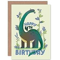 Dinosaur Boys 4th Birthday Card Apatosaurus 恐竜