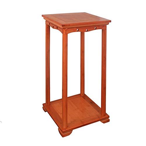 Effen hout Bloem Stand Woonkamer Originele Houten Multi-Layer Binnen Balkon Bonsai Bloemenplank Chinese Stijl Vloer Houten Europese Stijl Honing Kleur, H-J 32x33x72CM