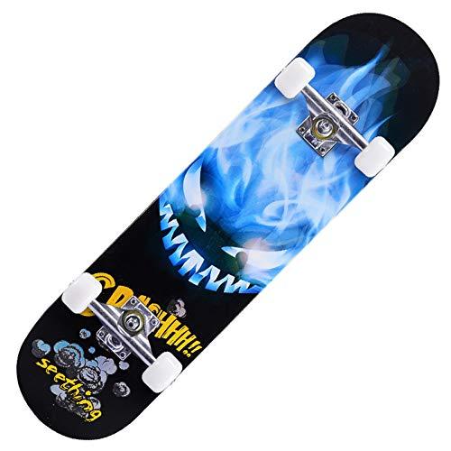 Skateboard Completo, Pro 31'x8' Monopatín para Adolescentes Principiantes Niñas Niños Adultos, 7 Capas Monopatín de Madera de Canadiense Arce con rodamientos ABEC-7.