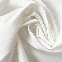 ハンドメイド用生地 150cm巾 リネン48%コットン52% 無地 ホワイト 薄地 R0236(旧品番 W-632)
