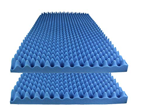 Foamily Ice Blue Acoustic Foam Egg Crate Panel Studio Foam Wall Panel 48' X 24' X 2.5' (2 Pack)