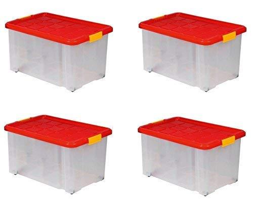 ARTECSIS Lot de 4 boîtes de Rangement Plastique...