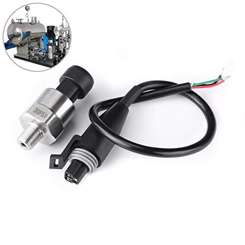 Trasduttore di pressione, 1 confezione DC 5V 1 / 8NPT Trasduttore di pressione con filettatura in acciaio inossidabile Sensore sensore con cavo per Serbatoio gas Serbatoio diesel(30PSI)