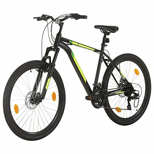 Tidyard Bicicleta de Montaña 21 Velocidades 27,5 Pulgadas Rueda 50cm Bicicleta Montaña para Adulto Negro