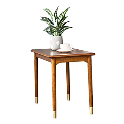 ZhenHe Modern nordic Coffee Table Mid Century End Table Nightstand Sofa Side Table Accent Coffee Table For Bedroom With Copper Feet Sofa Side End Table (Color : Beige, Size : 40X70X50CM) Suitable for