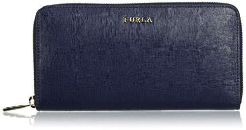 FURLA Babylon Xl Zip Around - Portafogli Donna, Blau (Navy B), 1.9x10x19.5 cm (B x H T)