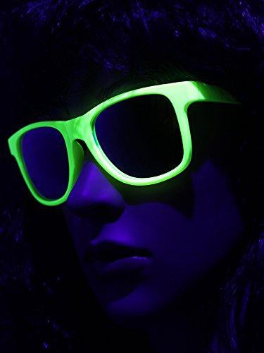 UV Schwarzlicht Neon Brille gelb