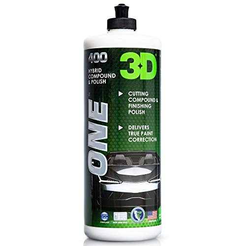 3D One - Scratch & Swirl Remover Rubbing Compound & Finishing Polish for True Car Paint Correction & Detailing 32oz.