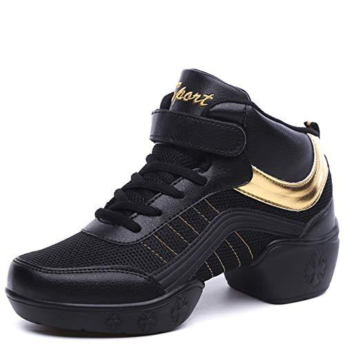 KKLT Zapatos De Baile para Damas, Deportes, Suela Exterior Suave, Zapatos De Práctica para Mujeres, Zapatos De Baile De Jazz Modernos(40, Black)