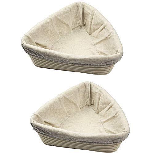 YNGH Cesta de Cesta de Pan Triple de Triple de ratán con Masa de Pastel de Masa Acolchada Cuenco al Horno Almacenamiento de Alimentos Almacenamiento Organizador 2 Pack Bowl Fruit Bowl-Default