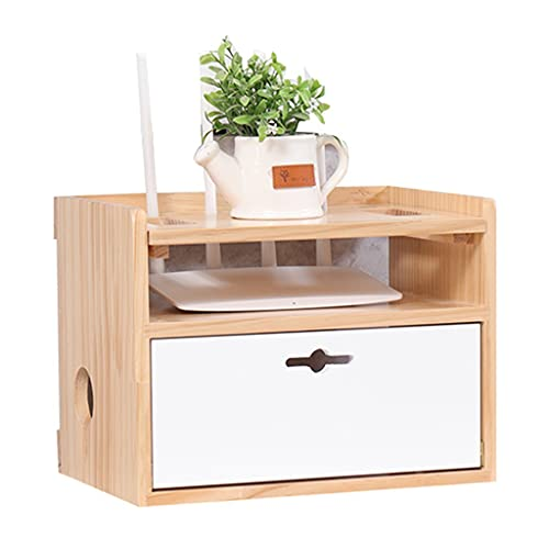 Desktop shelf Solid wood wireless router storage box wifi optical cat set-top box plugboard storage cabinet wall shelf