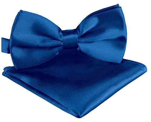 BomGuard BomGuard Fliege Einstecktuch Set über 30 Farben Fliege Einstecktuch Herrenfliege Fliege mit Einstecktuch Fliege für Herren ?, Blau, Einheitsgröße