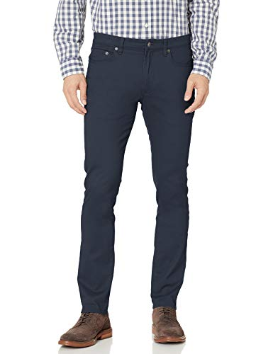 Amazon Essentials Skinny-fit 5-Pocket Stretch Twill Pant Pantalon décontracté, Bleu Marine, 42W / 30L
