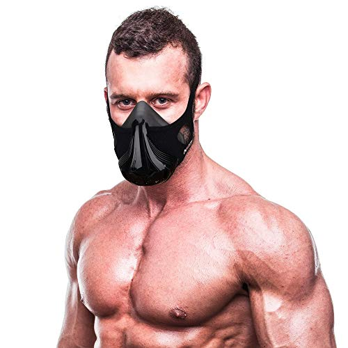 Next Level Training Mask with Carry Case  2021 Edition  Workout High Altitude Elevation Simulation  for Gym Cardio Running Endurance Resistance and HIIT 48 Levels Activated Carbon Filtration