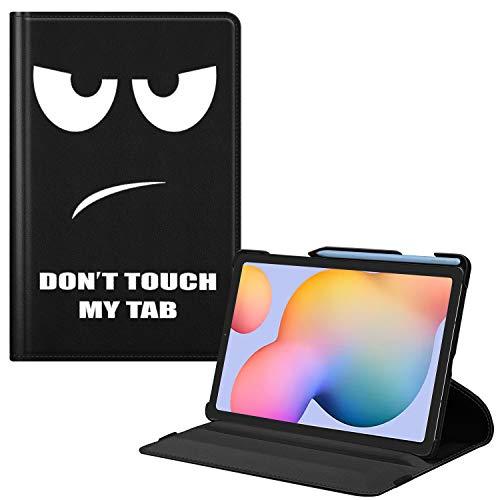 Fintie Hülle für Samsung Galaxy Tab S6 Lite - 360 Grad verstellbare Schutzhülle mit S Pen Halter, Auto Schlaf/Wach Funktion für Samsung Tab S6 Lite 10.4 SM-P610/ P615 2020, Don't Touch