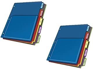 Cardinal Expanding Pocket Poly Divider, 5-Tab, Multi-Color (84012CB) (2, DESIGN 1)