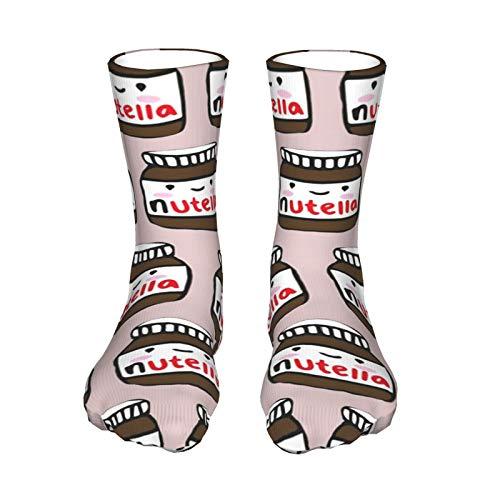 Nutella Muster Unisex Atmungsaktive Lustige Quarter Socken Crew Socken Herren Athletic Socken Tennis