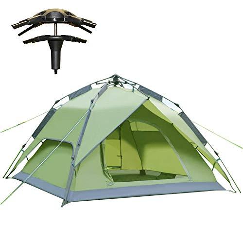 Climecare Wurfzelt 2-3 Personen Festival,Kuppelzelt Sekundenzelt CampingZelt Outdoor Pop up 240x210x135cm(Grün)