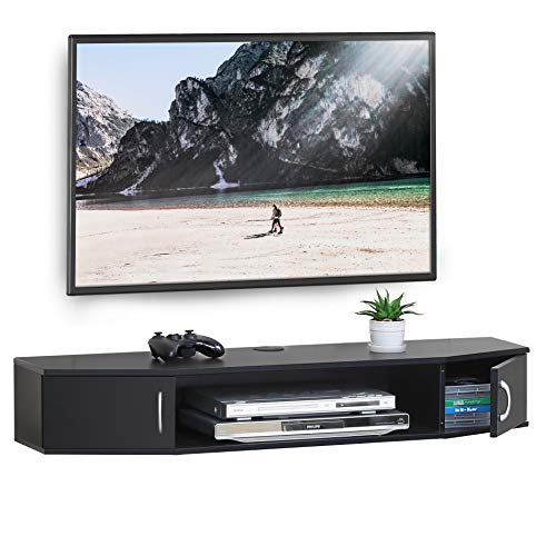 FITUEYES Wall Mounted TV Media Console Floating Desk Storage...