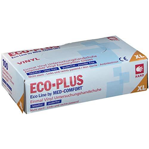 ECO Handschuhe Vinyl puderfrei natur Einmalhandschuhe, 100 Stück (XL)