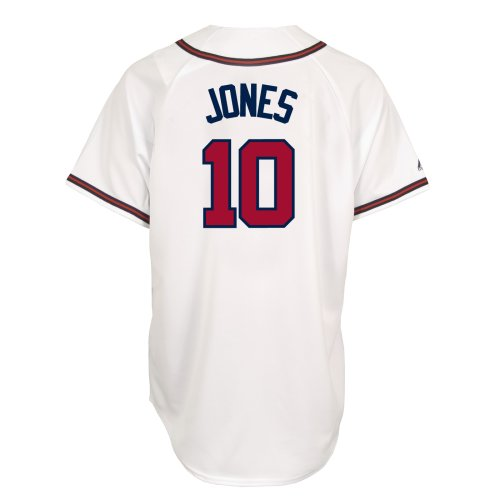 MLB Chipper Jones Atlanta Braves Replica Home Jersey (Medium) , White