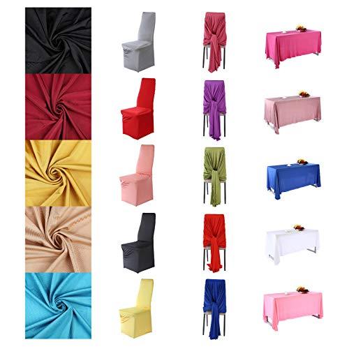 Polyester Stretch Jersey Stoff Bekleidung & Festzelt Events Material, Tisch stuhl abdeckung drapieren & zurück drop dekoration. Semi Sheen,21 Farben, 160 cm breit.