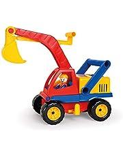 Lena 4151 aktywna koparka z figurką do zabawy, pojazd, 35 cm, wielokolorowa