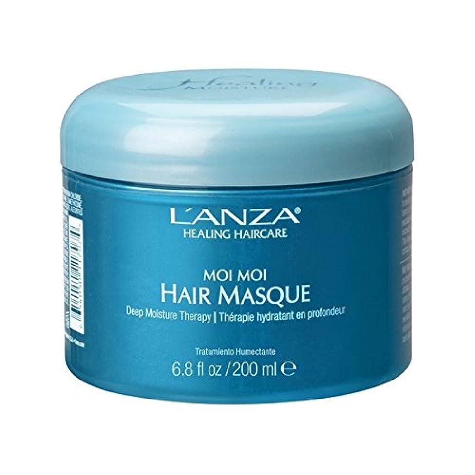 舗装パラナ川優雅L'Anza Healing Moisture Moi Moi Hair Masque (200ml) (Pack of 6) - アンザ癒しの水分モイモイヘア仮面劇(200ミリリットル) x6 [並行輸入品]