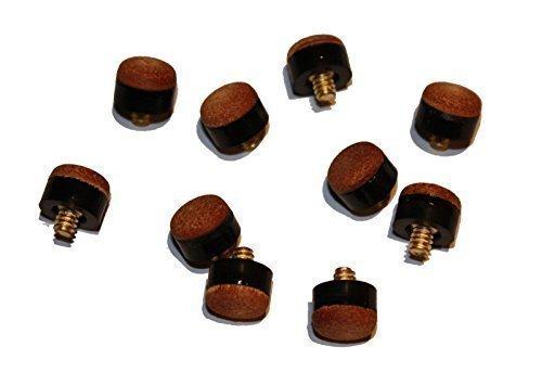 10 Schraubleder mit Messing-Gewinde, 12mm.