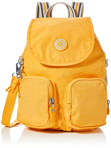 Kipling Damen Firefly Up Rucksack Gelb (Vivid Yellow)