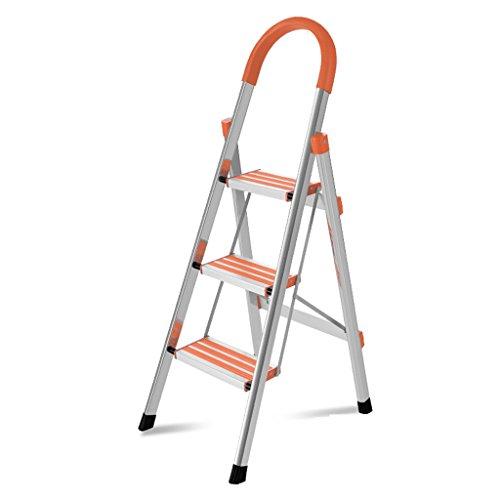 Goquik Stap Kruk, RVS Huishoudelijke Ladder Verdikking Multifunctionele Telescopische Ladder Vouwladder
