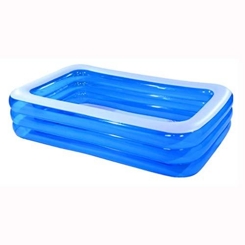 ZZW Piscine Gonflable portative, Baignoire Gonflable Multi-Personne Pliable Bleue de Grande Famille, Baril Gonflable Adulte Confortable de Bain, Baignoire d'eau de Jeu de Famille de Massage Spa