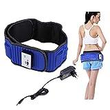 Masajeador eléctrico de vibración de la cintura, masajeador eléctrico de vibración, cinturón adelgazante con 5 motores y 20 imanes para perder peso, construcción muscular, azul