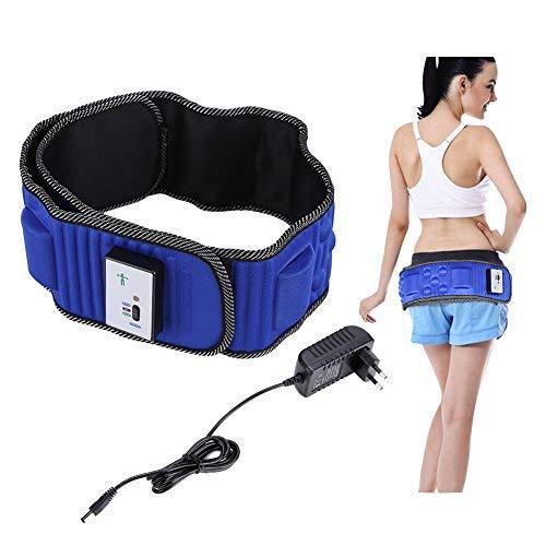 Ejoyous Massaggiatore Vibrante a Vita Elettrica, Cintura Vibrante Elettrica Dimagrante Massaggiatore con 5 Motori e 20 Magneti per Perdita di Peso, Costruzione del Muscolo, Forma del Corpo, Blu