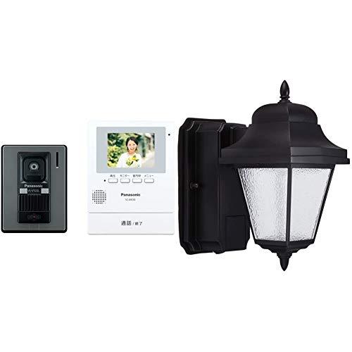 Panasonic LSEWC4033LE1 Video Intercom (Direct Power Supply) VL-SE30XL & LED Porch Light Wall Mounted 60 Shape Bulb Color