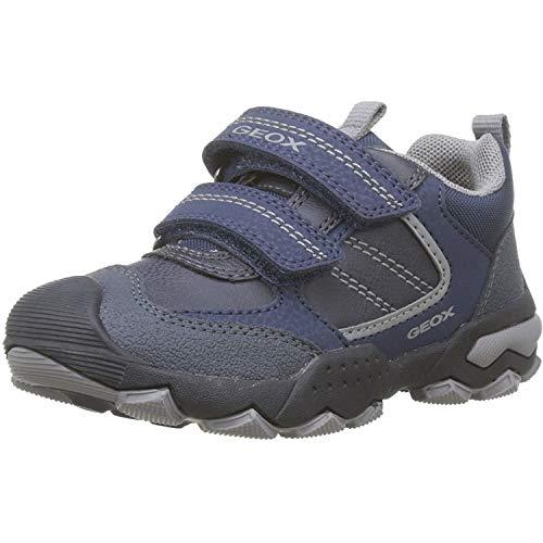 Geox Jungen J BULLER Boy D Sneaker, Navy/Grey, 25 EU